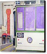 Memphis Trolley Canvas Print by Loretta Nash