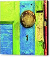 Mercado Door Canvas Print by Joe Jake Pratt