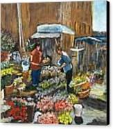 Mercato Canvas Print by Niki Mastromonaco