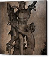 Mercury Carrying Eurydice To The Underworld Canvas Print by Loriental Photography