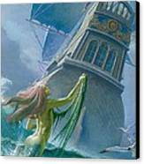 Mermaid Seen By One Of Henry Hudson's Crew Canvas Print
