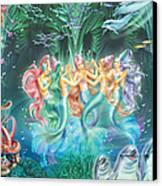 Mermaids Danicing Canvas Print