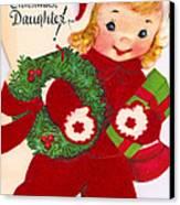 Merry Christmas Daughter Canvas Print by Munir Alawi