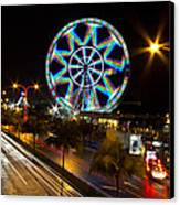 Merry Ferris Wheel Canvas Print by Troy Espiritu