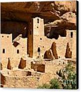 Mesa Verde National Park Cliff Palace Pueblo Anasazi Ruins Canvas Print