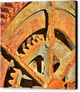 Meshing Gears Canvas Print by Phyllis Denton