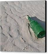 Message In A Bottle Canvas Print by Peter Waters