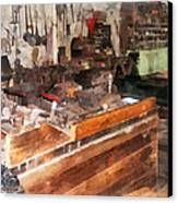 Metal Machine Shop Canvas Print by Susan Savad