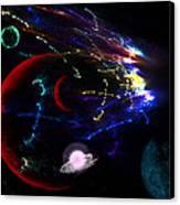 Meteor Explosion Canvas Print
