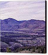 Methow River Valley Via Sun Mtn Lodge Canvas Print by Omaste Witkowski