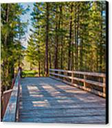 Methow Valley Community Trail At Wolf Creek Bridge Canvas Print by Omaste Witkowski