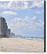 Mexico Beach Coastline Canvas Print by Kenny Francis