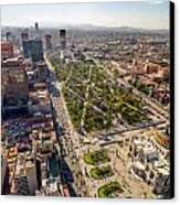 Mexico City Aerial View Canvas Print by Jess Kraft