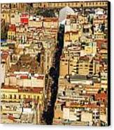 Mexico City Cathedral And Zocalo Canvas Print by Jess Kraft