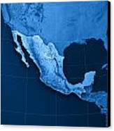 Mexico Topographic Map Canvas Print by Frank Ramspott