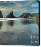 Meyers Creek Sea Stack Blues Canvas Print