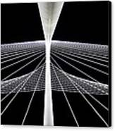 Mhh Calatrava Bridge  Canvas Print by Damon Phillips