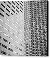 Miami Architecture Detail 2 - Black And White Canvas Print by Ian Monk