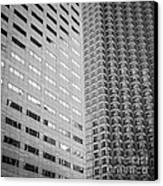 Miami Architecture Detail 2 - Black And White - Square Crop Canvas Print by Ian Monk