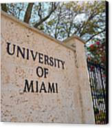 Miami Campus Sign In Spring Canvas Print by Replay Photos