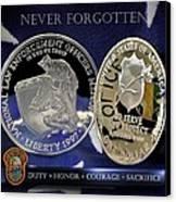 Miami Dade Police Memorial Canvas Print