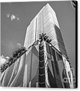 Miami Downtown Buildings - Miami - Florida - Black And White Canvas Print by Ian Monk