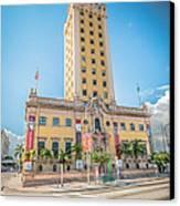 Miami Freedom Tower 4 - Miami - Florida Canvas Print by Ian Monk