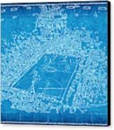 Miami Heat Arena Blueprint Canvas Print