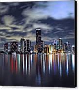 Miami Skyline Canvas Print by Gary Dean Mercer Clark