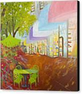 Miami's Coconut Grove Shops Canvas Print by Douglas Ann Slusher