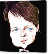 Michael J. Fox Illustration Canvas Print by Diego Abelenda