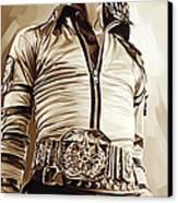 Michael Jackson Artwork 2 Canvas Print by Sheraz A