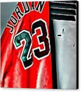 Michael Jordan 23 Shirt Canvas Print by Florian Rodarte