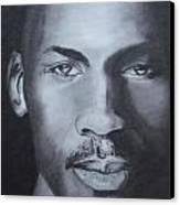 Michael Jordan Canvas Print by Aaron Balderas