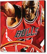 Michael Jordan Artwork 3 Canvas Print by Sheraz A