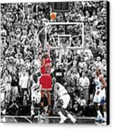 Michael Jordan Buzzer Beater Canvas Print by Brian Reaves