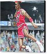 Michael Jordan Canvas Print by Freda Nichols