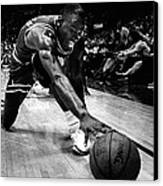 Michael Jordan Reaches For The Ball Canvas Print by Retro Images Archive
