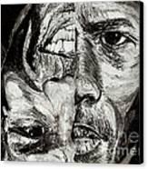 Michael Jordan  Reversible Game Faces Canvas Print by Israel Torres