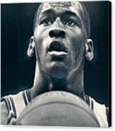 Michael Jordan Shots Free Throw Canvas Print by Retro Images Archive
