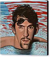 Michael Phelps Canvas Print by Paul Meijering