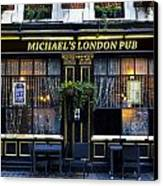 Michael's London Pub Canvas Print by David Pyatt