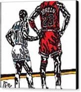 Micheal Jordan 1 Canvas Print by Jeremiah Colley