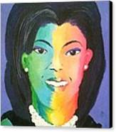 Michelle Obama Color Effect Canvas Print