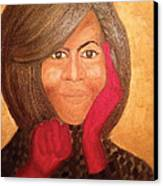 Michelle Obama Canvas Print by Ginnie McKnight