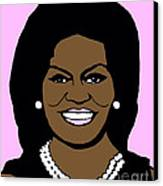 Michelle Obama Canvas Print by Jost Houk