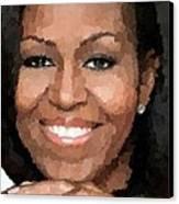 Michelle Obama Canvas Print by Samuel Majcen