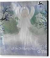 Midnight Angel Of Peace Canvas Print by Sherri  Of Palm Springs