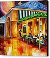 Midnight At The Cafe Du Monde Canvas Print