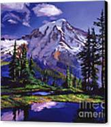 Midnight Blue Lake Canvas Print by David Lloyd Glover